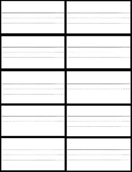 Graphic Organizer - Sight Word FlashCard Template - Cuttable