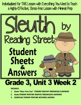 """Sleuth Reading Street Gr 3 Unit 3 Wk 2, Pushing Up the Sky, """"Athena and Arachne"""""""