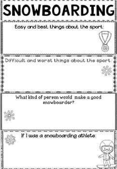 Graphic Organizer: Snowboarding : Winter Olympics 2018, Winter Sports