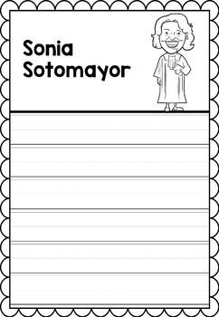 Graphic Organizer : Sonia Sotomayor