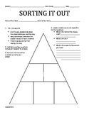 Graphic Organizer: Sorting It Out