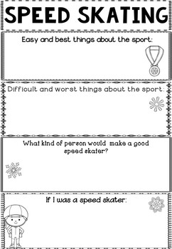 Graphic Organizer: Speed Skating : Winter Olympics 2018, Winter Sports
