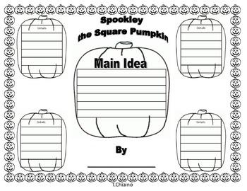 Graphic Organizer Spookley the Square Pumpkin