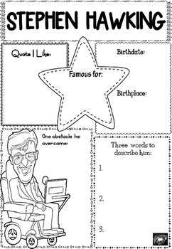 Graphic Organizer : Stephen Hawking