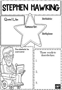 Graphic Organizer : Stephen Hawking