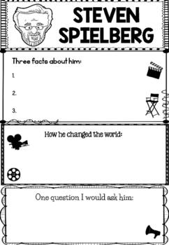 Graphic Organizer : Steven Spielberg