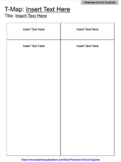 Graphic Organizer: T-Map (Version 1) DIGITALLY EDITABLE