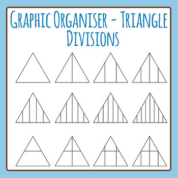 Graphic Organizer Template - Triangle Divisions Clip Art Set for Commercial Use
