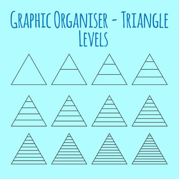 Graphic Organizer Template - Triangles with Levels Clip Art Set Commercial Use