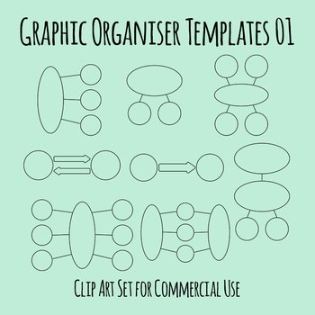 Graphic Organizer Templates 01 Clip Art Set for Commercial Use