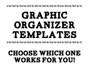 Graphic Organizer Posters