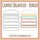 Graphic Organizer Templates - Burger / Sandwich / Bread Roll Components Clip Art
