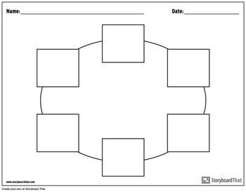 Graphic Organizer Templates Circle Charts By Storyboard That Tpt