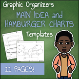 Graphic Organizer Templates - Main Idea and Hamburger Essay Chart