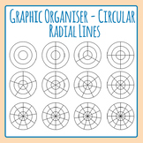 Graphic Organizer Templates - Radial Circles Clip Art Set for Commercial Use