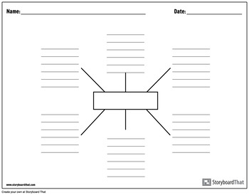 spider diagram template graphic organizer templates spider charts by storyboard that tpt  graphic organizer templates spider