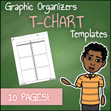 Graphic Organizer Templates - T-Charts