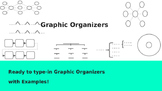 Graphic Organizer Templates with Examples!