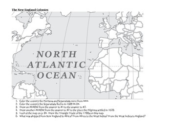 Graphic Organizer - The New England Colonies