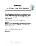 Graphic Organizer - The War of 1812 - The 2nd War for Independence