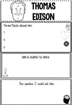 Graphic Organizer : Thomas Edison