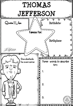 Graphic Organizer : Thomas Jefferson