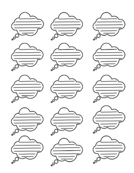Graphic Organizer Thought Cloud: 15 per page