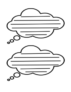 Graphic Organizer Thought Cloud: 2 per page