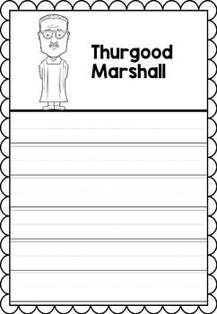 Graphic Organizer : Thurgood Marshall -  Inspiring African American Figures