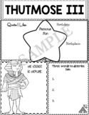 Graphic Organizer : Thutmose III  - Ancient Civilizations Egypt