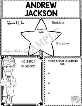 Graphic Organizer : US Presidents - Andrew Jackson, American President 7
