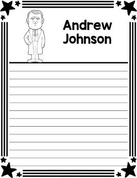 Graphic Organizer : US Presidents - Andrew Johnson, American President 17