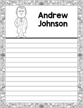 Graphic Organizer : US Presidents - Andrew Johnson, American President 17