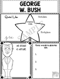 Graphic Organizer : US Presidents - George W. Bush, American President 43