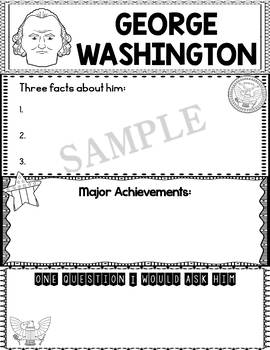 Graphic Organizer : US Presidents - George Washington, American President 1