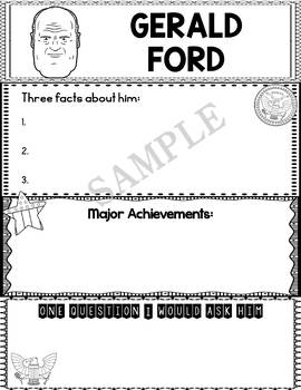 Graphic Organizer : US Presidents - Gerald Ford, American President 38