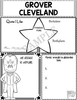 Graphic Organizer : US Presidents - Grover Cleveland, American President 22 & 24