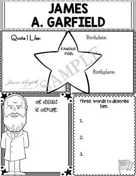 Graphic Organizer : US Presidents - James A. Garfield, American President 20