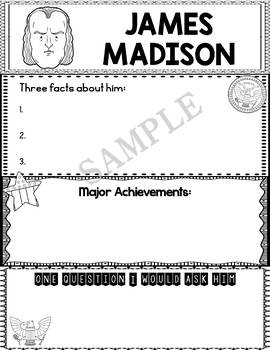 Graphic Organizer : US Presidents - James Madison, American President 4