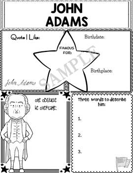 Graphic Organizer : US Presidents - John Adams, American President