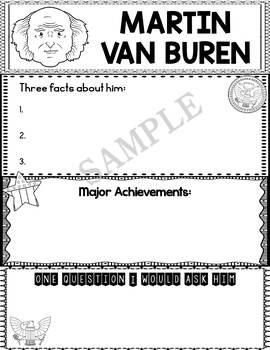 Graphic Organizer : US Presidents - Martin Van Buren, American President 8