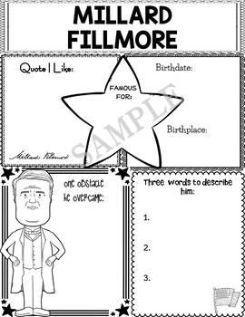 Graphic Organizer : US Presidents - Millard Fillmore, American President 13