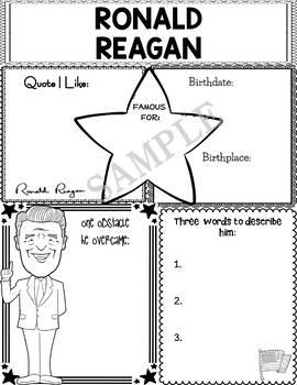 Graphic Organizer : US Presidents - Ronald Reagan, American President 40