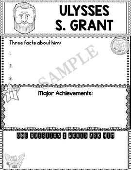 Graphic Organizer : US Presidents - Ulysses S. Grant, American President 18