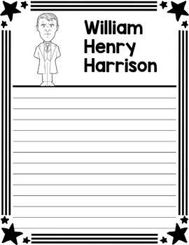 Graphic Organizer : US Presidents - William Henry Harrison, American President 9