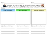 Graphic Organizer: Urban, Rural and Suburban Communities