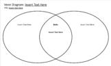 Graphic Organizer: Venn Diagram (DIGITALLY EDITABLE)