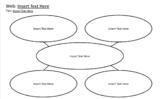 Graphic Organizer: Web (DIGITALLY EDITABLE)