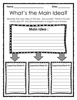 Graphic Organizer: What's the Main Idea?