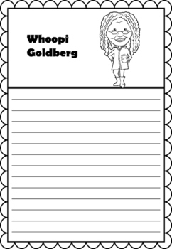 Graphic Organizer : Whoopi Goldberg